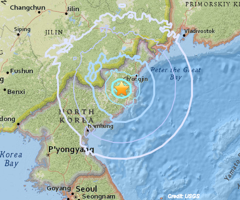 North Korea Tests Hydrogen Bomb; Produces 6.3 Earthquake