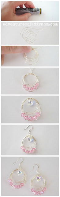 How to Make Wire Circle Earrings