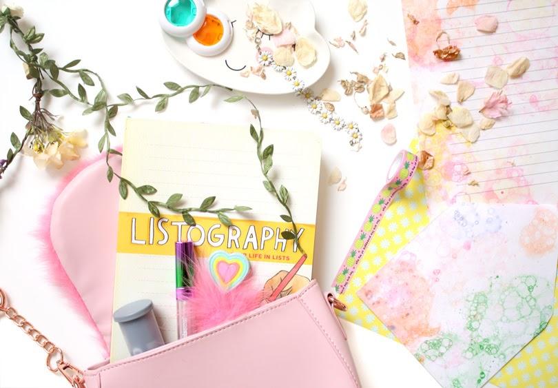 fashion journal flatlay