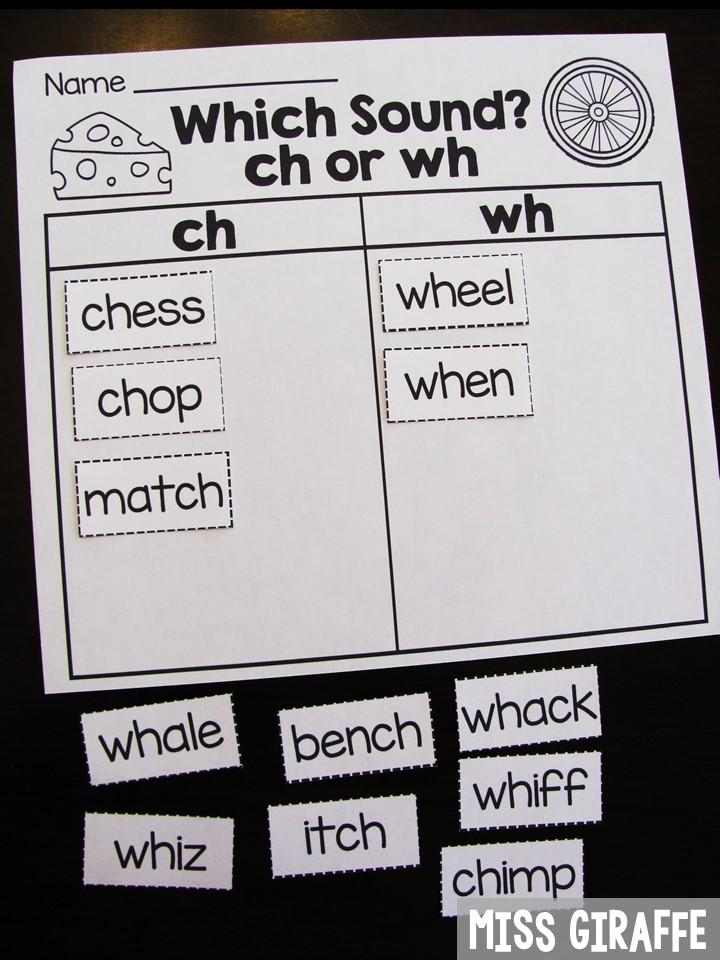 Miss Giraffe S Class Digraphs Activities For First Grade