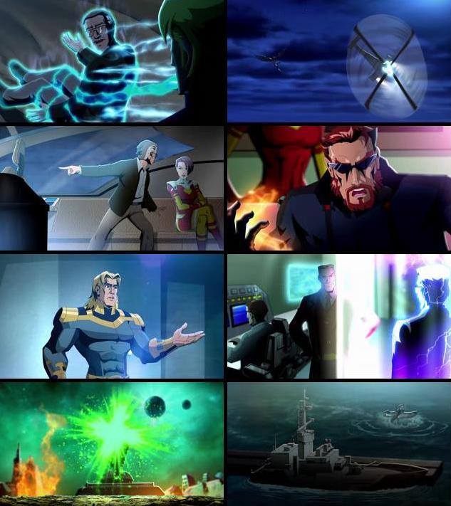 Stan Lees Mighty 7 (2014) Dual Audio Hindi 720p BluRay