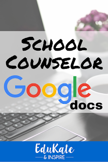 Free Google Docs for School Counselor Organization
