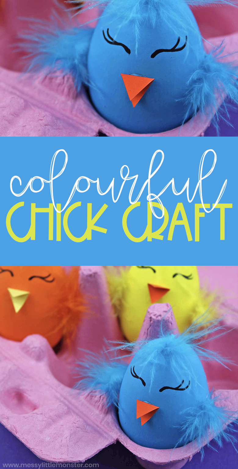This Easter chick craft is such a fun Easter activity for kids! Young children will have a BLAST making this fun craft that feature painted wooden eggs!