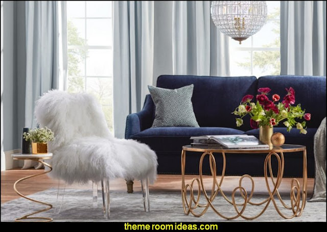 luxe decor glam living rooms - old Hollywood style decorating ideas -  Luxe living rooms furniture - old Hollywood glamor decorating ideas - Hollywood glam furniture - mirrored furniture