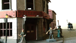 A model pub with little model figures