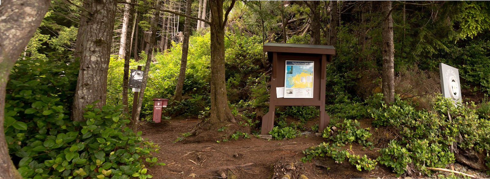 North Coast Trail trailhead at Shusharite Bay
