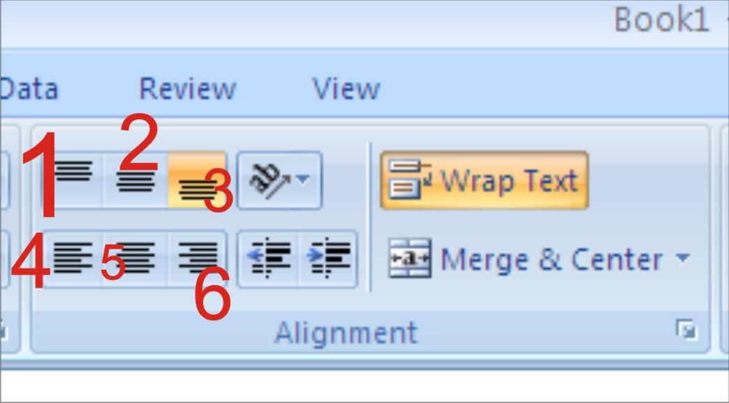 Belajar Microsoft Office Rata Tengah Rata Kiri Dan Rata Kanan Serta Wrap Text Untuk Membuat Semua Isi Content Cell Kelihatan Walaupun Sempit