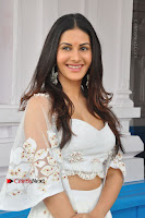 Telugu Actress Amyra Dastur Stills in White Skirt and Blouse at Anandi Indira Production LLP Production no 1 Opening  0050.JPG