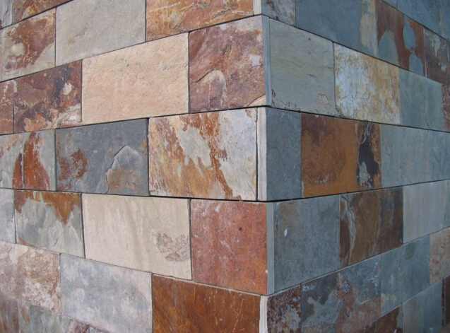Rusty Slate Tile For Walls And Decor: Interior And Exterior