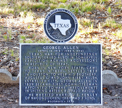 George Allen Texas Historical Commission Marker