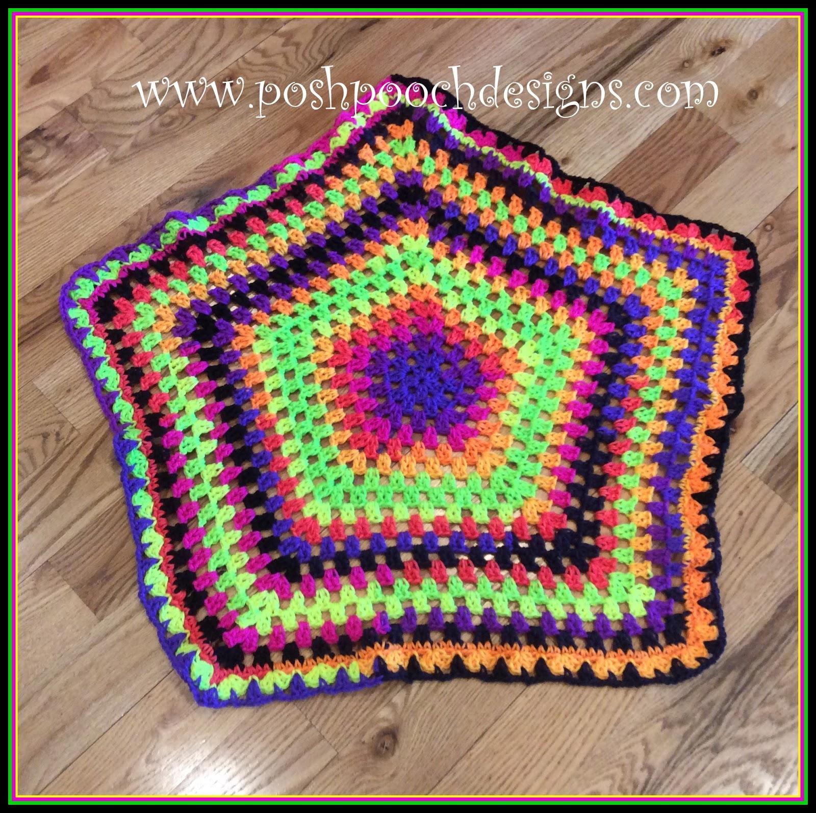 Posh Pooch Designs Dog Clothes: Swirling Rainbow Blanket Crochet ...