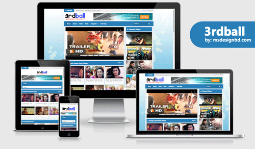 3rdball Professional Video Blogger Template | Premium Download