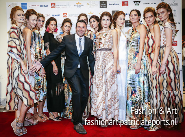 Panos Apergis and the models of his fashion show Spring-Summer 2018 at Athens Exclusive Designers Week