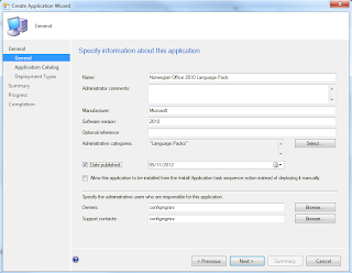 Office 2010 Language Pack Deployment in the Software Catalog for SCCM 2012 2