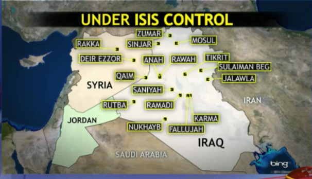 ISIS Control In Iraq June Vs August