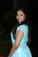 Pujita Ponnada in transparent sky blue dress at Darshakudu pre release ~  Exclusive Celebrities Galleries 083.JPG