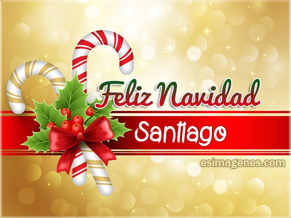 Feliz Navidad Santiago Tarjetas De Cumpleaos Con Nombres