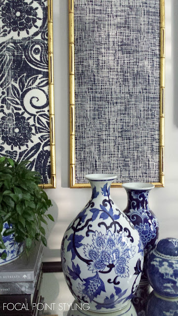 FOCAL POINT STYLING: DIY Indigo Wall Art With Framed Fabric