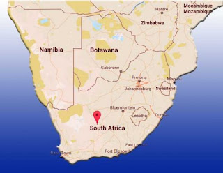 Peta Republik Afrika Selatan