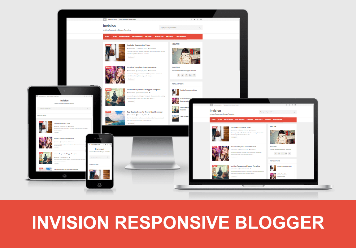 invision responsive blogger template temvlates the best free blogger templates themes 2016. Black Bedroom Furniture Sets. Home Design Ideas