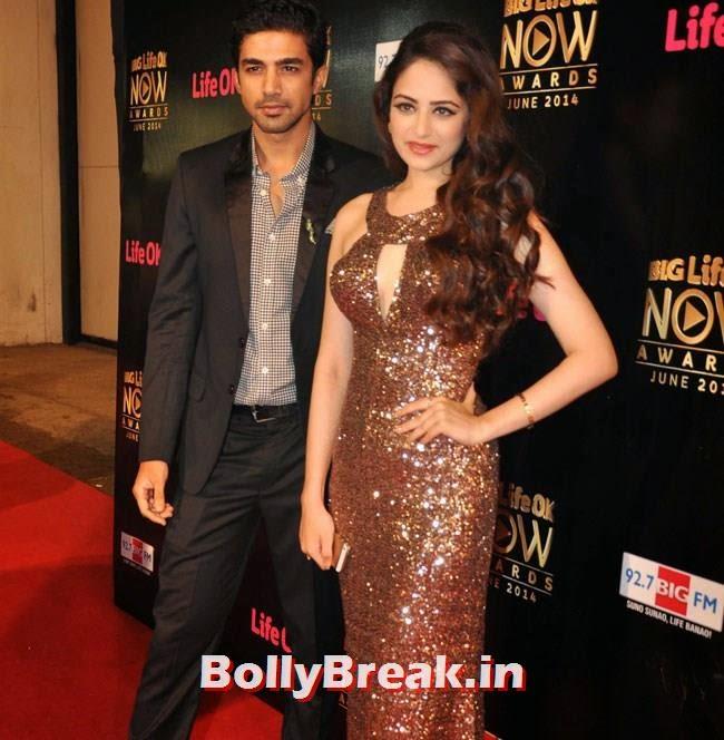 Saqib Saleem and Zoya Afroz, Life OK Now Awards 2014 Red Carpet Pics