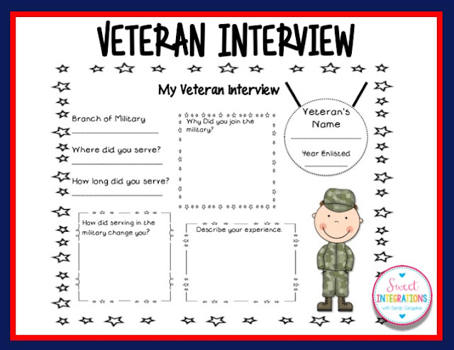 Looking for Veterans Day activities? I've given you some great resources which include, books, a video, QR Codes about US symbols and more...