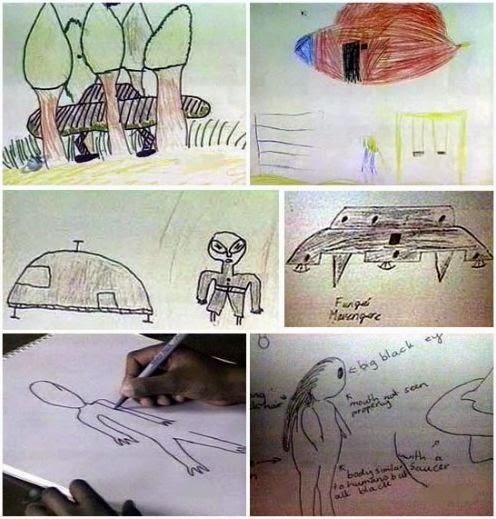 Los niños dibujaron sus vivencias