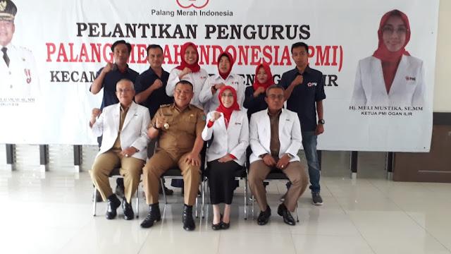 Pengurus dan Relawan PMI Kecamatan Dilantik