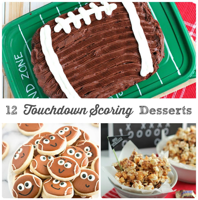 Score a touchdown at that next tailgate or game day party with these 12 football themed dessert recipes.