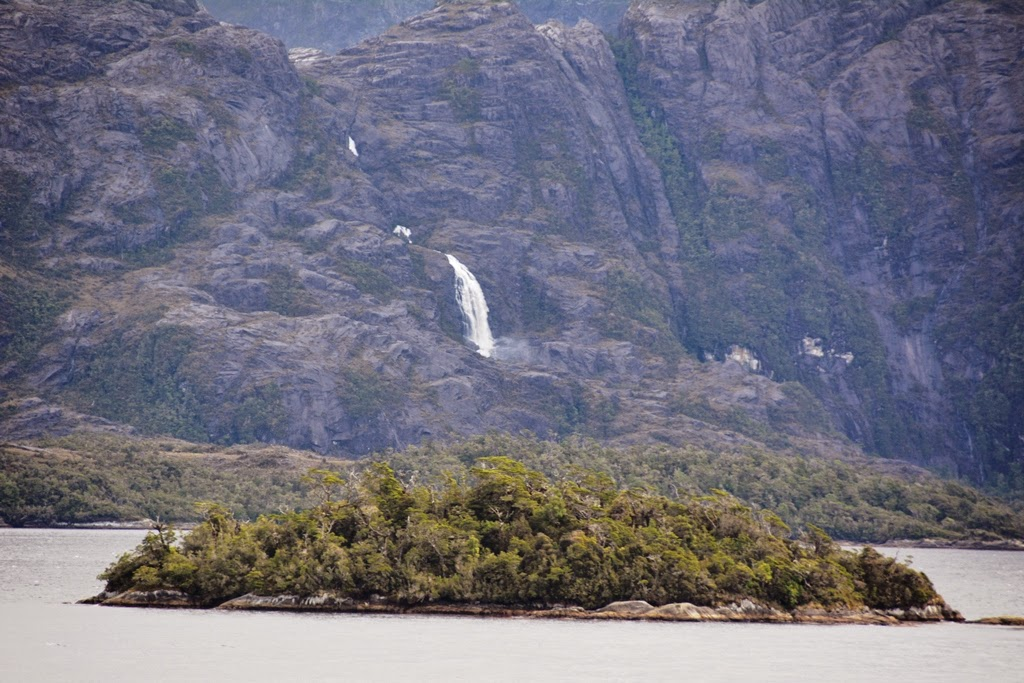 Chilean Fjords waterfall
