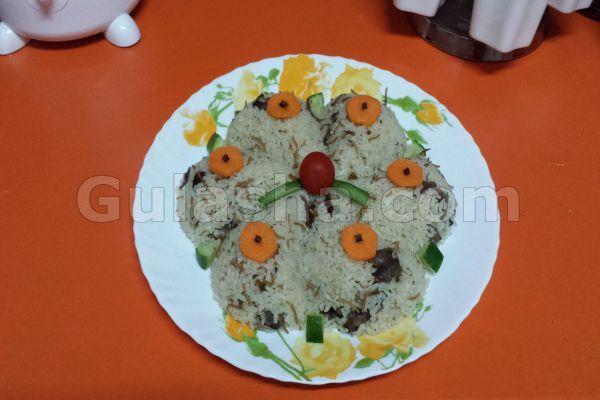 ارز بالكبدة -  قلقاس - سمنية