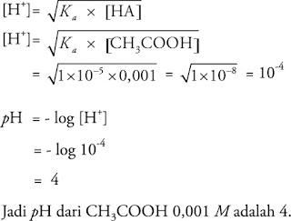 Pembahasan Soal kimia bab asam basa nomor 5
