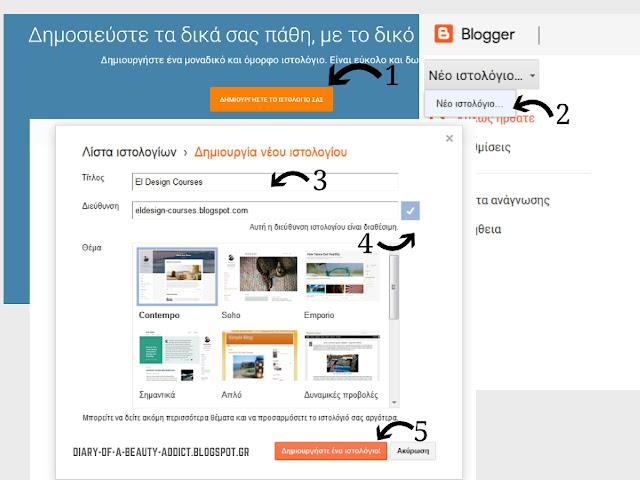 6 βήματα για την δημιουργία blog║ El Design FREE Courses
