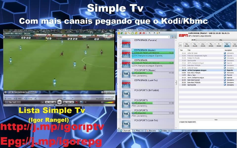 IGOR LISTA KODI/XBMC/IPTV: Simple Tv