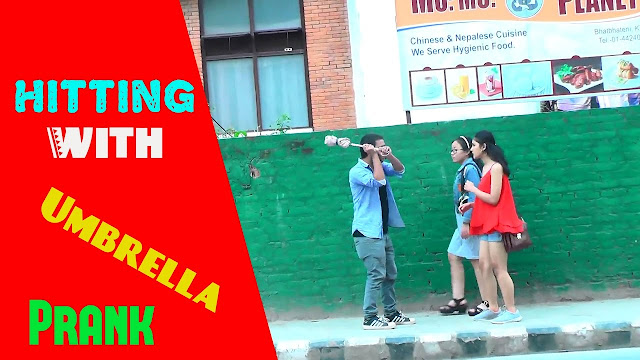 Nepali Prank - Hitting With Umbrella Prank