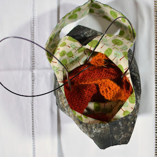 Japanese knot knitting bag