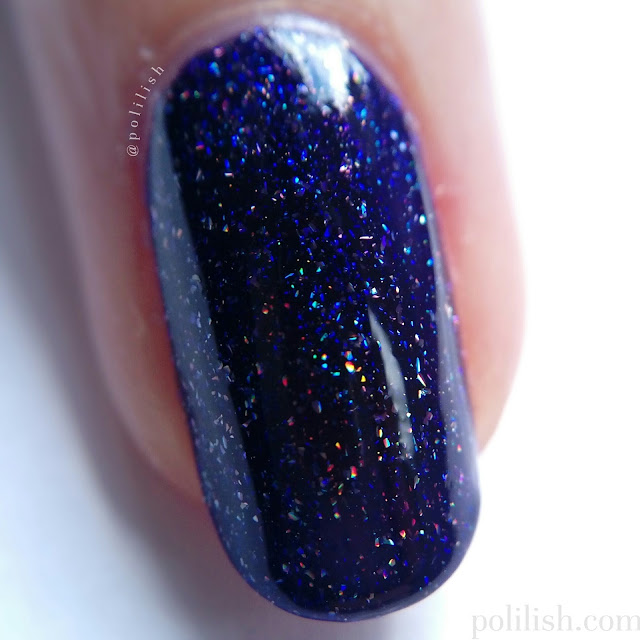 Macro close-up of ILNP 'Lulu', three coats with top coat