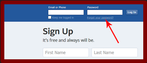Facebook Login Page My Account