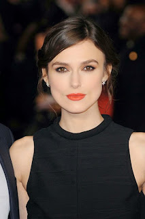 Kiera Knightley in orange lip