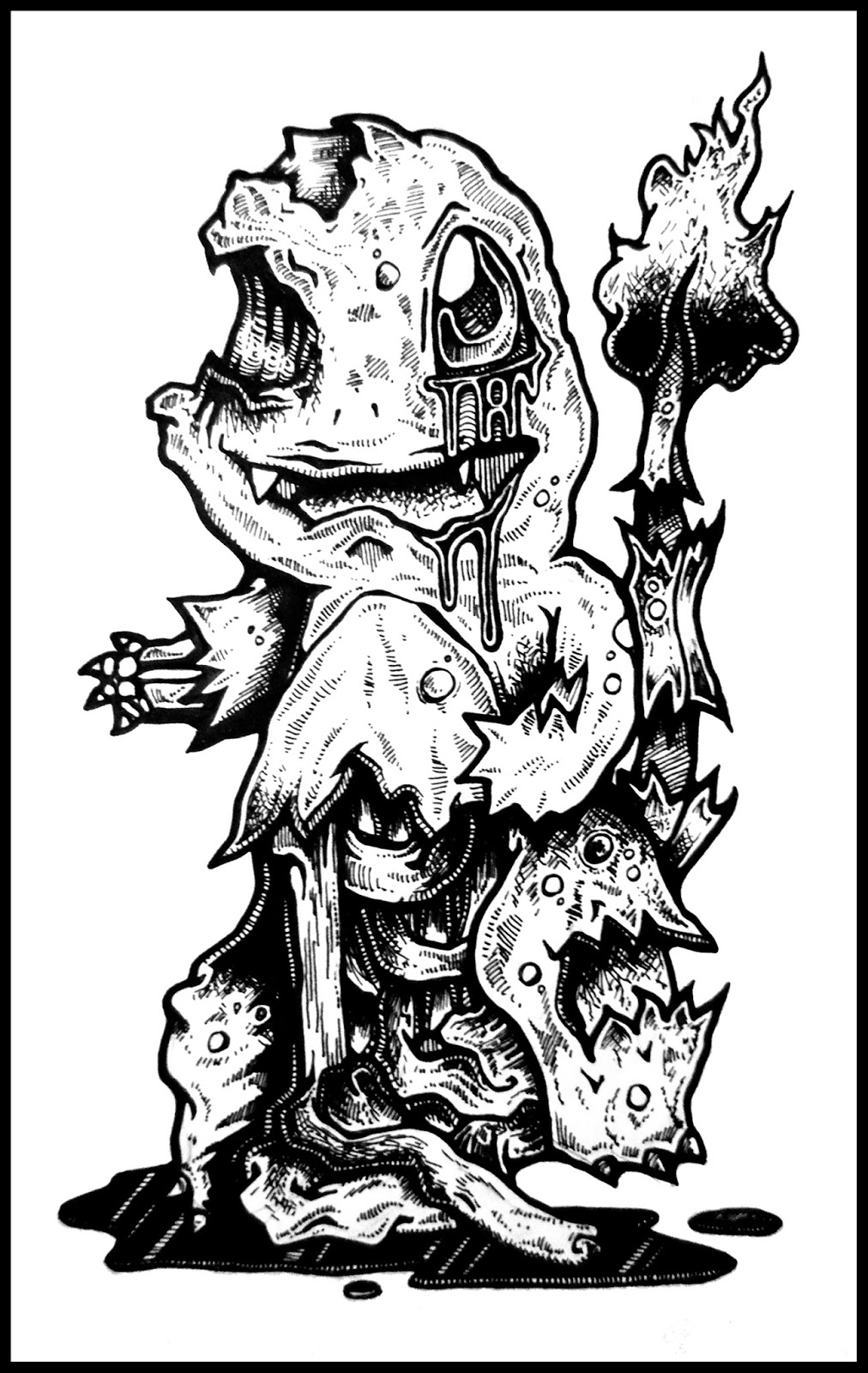 DARYL HOBSON ARTWORK: Detailed Zombie Pokemon (Pikachu ...
