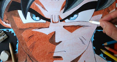 Drawing of Goku Ultra Instinct - Dragon Ball Super