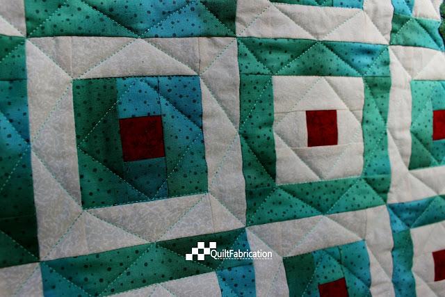 Hoppy green quilt quilting
