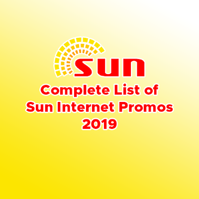 Complete List of Sun Internet Promos For 2019