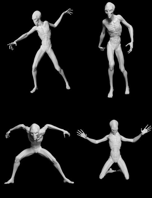 Gravity's Poses for The Exile Alien HD for Genesis 3 Male
