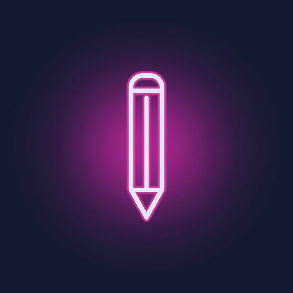 neon pencil icon