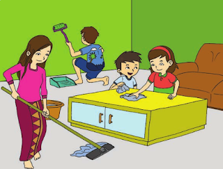 Hidup Bersih dan Sehat di rumah Kelas 2 Tema 4 Subtema 1