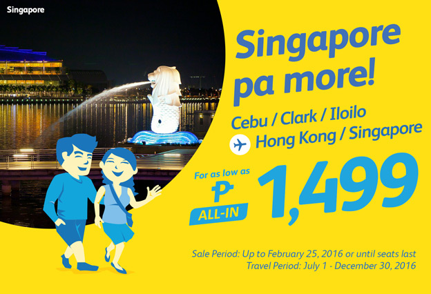 Cheap Flights Singapore Promo Fare 2016