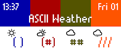 ASCII Weather - watchface para Pebble by dPunisher