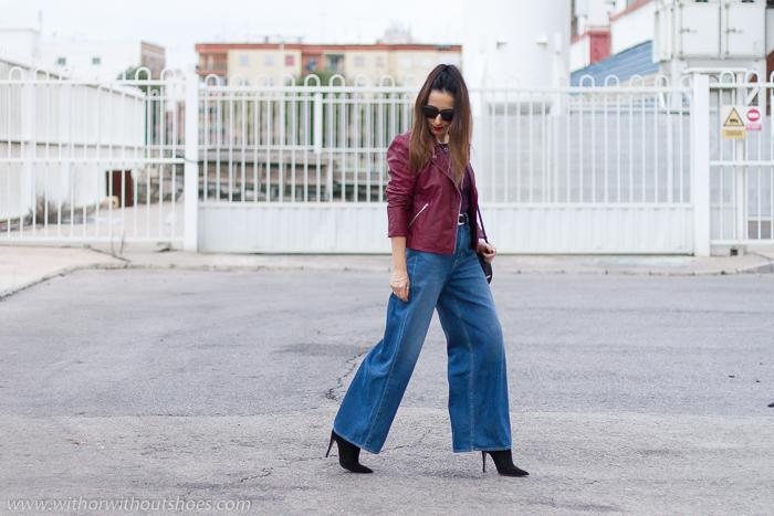Influencers bloggers valencianas con look urban chic comodo estiloso idea como combinar Jeans palazzo flared cintura alta Naisha de Meltin' Pot