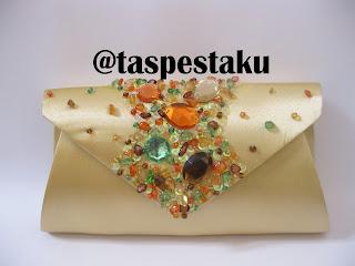 Dompet Tas Pesta Handmade Gold Mewah dan Unik